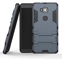 "MOONCASE Huawei G8 Funda, [Heavy Duty] Híbrida Rugged Armor Case Choque Absorción Protección Dual Layer Bumper Carcasa con pata de Cabra para Huawei G7 Plus / G8 / GX8 (5.5"") Azul Negro"