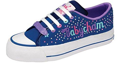 Pour Femme De Créateur Paltes Baskets Babycham Marina Diamant Multicolore Chaussures Bleu Marine