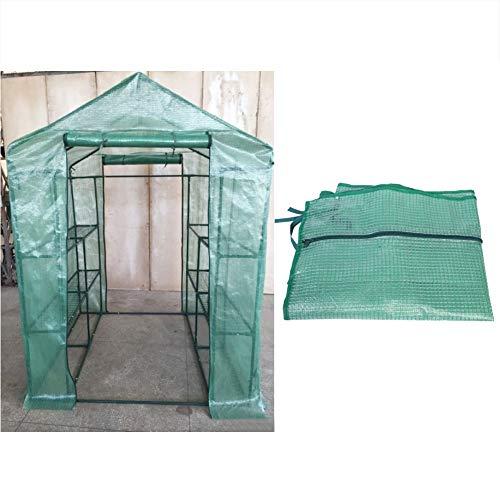 Asixx Foliengewächshaus Folienzelt, Pflanzenhaus Pflanzenabdeckung aus PVC Wasserdicht und Gegen UV-Strahlen für Pflanzen und Blumen