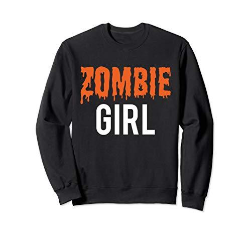 Halloween Familie Zombie Mädchen Kostüm für Mädchen Sweatshirt (Matching Mädchen Kostüm)