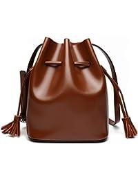 d3c9b7d1b7504 Ploekgda Beuteltasche Handtaschen aus Leder Große Kapazität Schulter  Schulter Messenger Bag (Color   Caramel Colour
