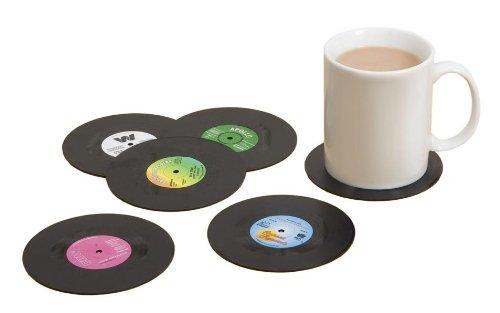 Set Von 6 Retro Vinyl-Schallplatte Getränke Untersetzer (Vinyl Record Coasters)