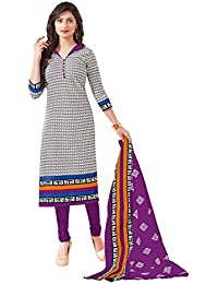 Baalar Women's Cotton Dress Material (1417_Free Size_blue)