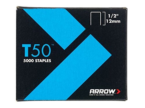 Agrafes Arrow T50–12 mm (1/2en de 5000) (4 x 1250)