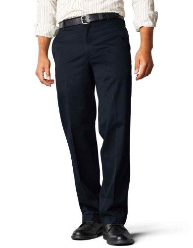 Dockers Men's Straight Fit Signature Khaki Pant D2, Navy (Cotton) -Discontinued, 31W x 32L (Original Dockers Khaki-hosen)