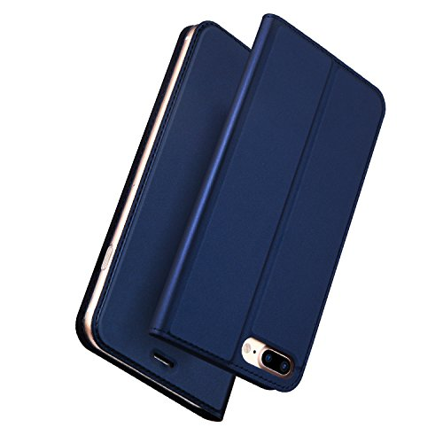 Stand-up-fall Iphone (Für IPHONE 8 Plus Fall iPhone 7 Plus Fall, DUX Ducis Haut Pro Series Ultra Slim Layered Dandy, Ständer, Magnetverschluss, TPU Bumper, Full Body Schutz für iPhone 8 Plus Fall iPhone 7 Plus Fall, marineblau, 14 cm)