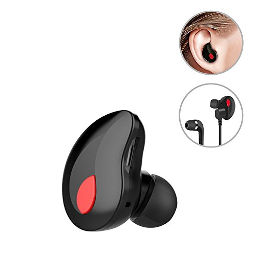 WEYO Mini Bluetooth Kopfhörer, Wireless Bluetooth Headset Sweatproof In-Ear-Ohrhörer Earphone für Business Sport Fahren für Apple iPhone iPhone 8 iPhonex Samsung Android PC Laptop, Freisprechen, Schwarz