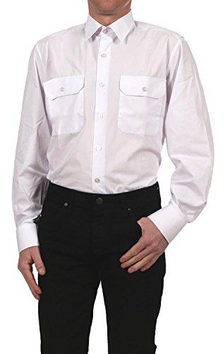 Petermann Pilotenhemd / Oberhemd / Diensthemd Feuerwehr 1039181-1 langarm in weiß, Kragenweite:45