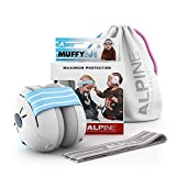 Alpine Muffy Baby Gehörschutz - Gehörschutz für Babys und Kleinkinder bis 36 Monate - Verhindert Gehörschäden - Verbessert den Schlaf unterwegs - Bequeme Passform - Blau