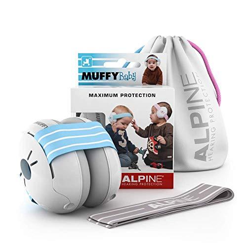 Alpine Baby Muffy Bouchon d'oreille pour enfant - pour enafant et tout-petits jusqu'à 36 mois - Protection auditive enfant- Améliore le sommeil pendant les déplacements - Confortable - Blue