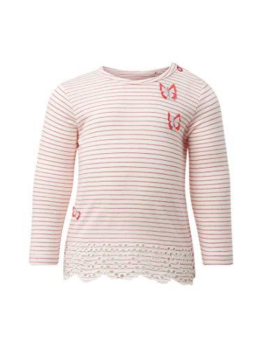 TOM TAILOR für Mädchen T-Shirts/Tops Langarmshirt mit Stickereien Geranium red, 80