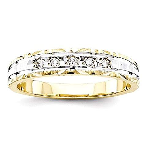 IceCarats 14k Yellow Gold Quality Trio Ladies Wedding Wedding Ring Band