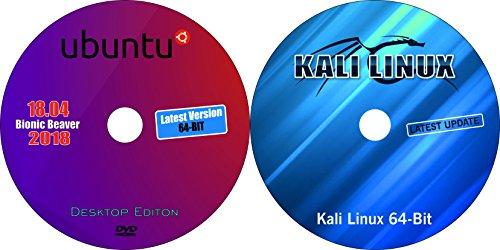 2 DVD Set Kali Linux 64-bit + Ubuntu Desktop Server 18.04 LTS Install/Reinstall Bootable DvD (64-Bit)(2018.1 Latest Edition)