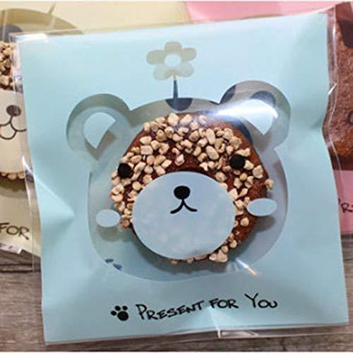 SMHILY 50 Stücke Nette Big Teech Mund Monster Plastiktüte Hochzeit Geburtstag Süßigkeiten Cookie Geschenk Verpackung Taschen OPP Selbstklebende Party Favors