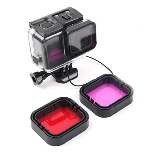 YZLSM Kamera Tauchen Lens Filter Unterwasserfilter Mit Aufbewahrungstasche Kompatibel Für Gopro Hero5 / 6 1stellen Gehäuse Filter Kamera Schutzgehäuse