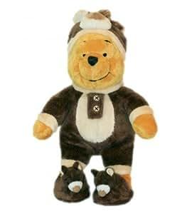 COLLECTOR - Peluche doudou Winnie l'Ourson The Pooh déguisé en ours - MP WN - H 26 cm - Disney Store Disneyland Paris