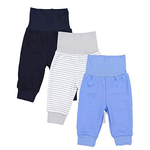 TupTam Baby Jungen Lange Pumphose 3er Pack, Farbe: Farbenmix 1, Größe: 68