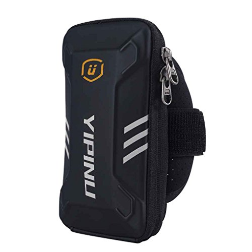 men Waterproof Fitness Running Arm Bag Case Wallet Jogging Phone Holder Purse Armband Gym Sports Arm Pouch ()