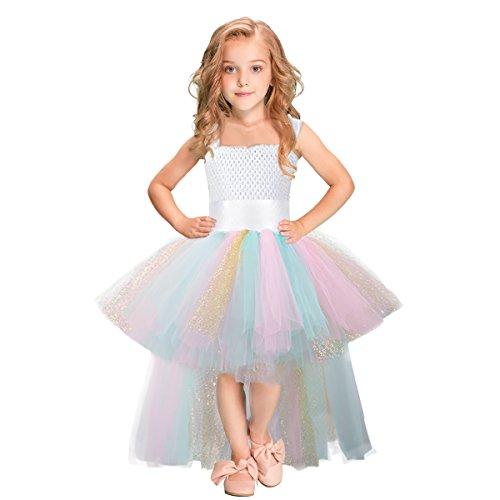 Tütü Kleid Mit Gürtel Karneval Kostüm Kinder Tüll Kleid Mädchen für Hochzeit, Geburtstag, Besonderen Anlass