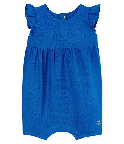 Petit Bateau Baby - Mädchen Spieler combicourt_4729901, Blau (Riyadh 01), 68 (Herstellergröße: 6M/67cm) - Spieler Mädchen