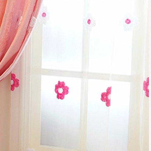 Qpggp tende tenda per finestra della camera da letto della principessa della ragazza della stanza dei bambini della tenda ricamata dell'asciugamano, b-300 x 270 cm (l x p) × 2