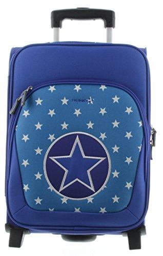 Franky Kindertrolley Kinderkoffer KT2 Sterne Blau