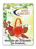 Anik-Shop Hunde-Blinklicht Anhänger Silikon Leuchthalsband Hundehalsband Hundehalsband 76 (Orange)