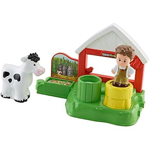 Mattel Fisher-Price CDH27 - Fattoria con caseificio, set da gioco, serie Little People