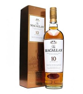 MACALLAN 10 Year Old Sherry Oak Speyside Malt Whisky 70cl Bottle