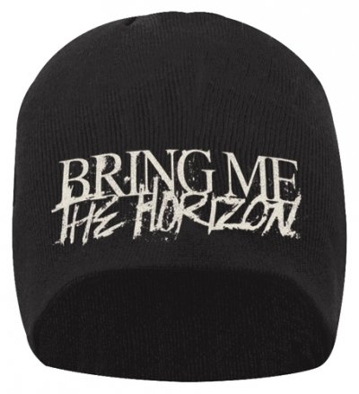Bring me the Horizon Horror Logo Official New Black Jersey Print Beanie Hat