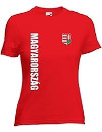 Ungarn Magyarorszag Damen T-Shirt Trikot Wunschname Wunschnummer