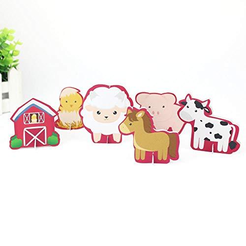 Bauernhof Tier Thema Party Tisch Dekoration Tabellenmittel Kinder Geburtstag Partei Liefert Dekoration