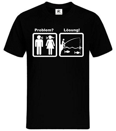 Problem Lösung Angeln T-Shirt Lustig Fun Shirt Angler Fischen Karpfen Zander (T-shirt Angeln Zander)