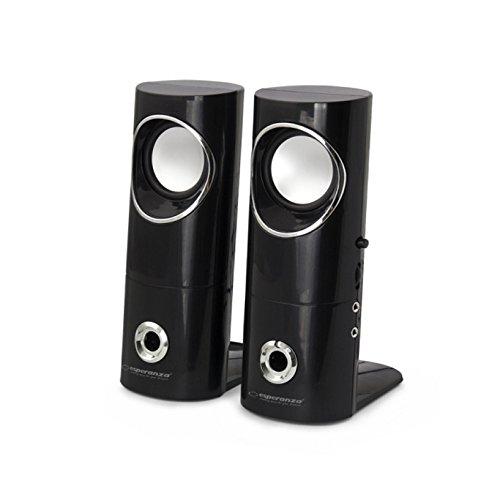 Esperanza BEAT 2 x 3W USB Stereo PC Lautsprecher Computer Boxen mit Headset Output und Lautstärkenregulierung