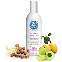The Moms Co. Natural 10-in-1 Baby Hair Oil with Argan Oil, Marula, Avocado, Bhringraj Oil and USDA-Certified Organic Amla Oil - 100ml