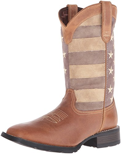 0f6886472d9 Durango Western Boots Mens Mustang Faded Glory Welt 8 W Brown DDB0087