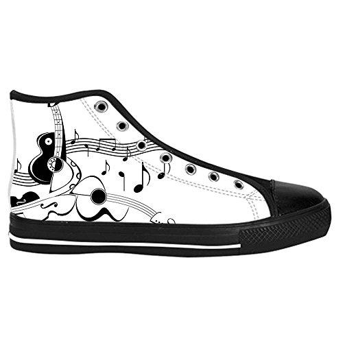 Costo De La Venta Para Barato Dalliy Music Note and Guitar Men s Canvas Shoes Scarpe Lace Up High Top Sneakers a vela panno scarpe Scarpe di tela sneakers a ilQFGc