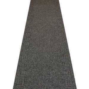 Treppe Läufer-gummi (Mega Schwarz-Hall, Treppe Teppich Läufer (erhältlich in jede Länge bis 30m), schwarz, L: 2.10m (6ft 11in) x W: 66cm)