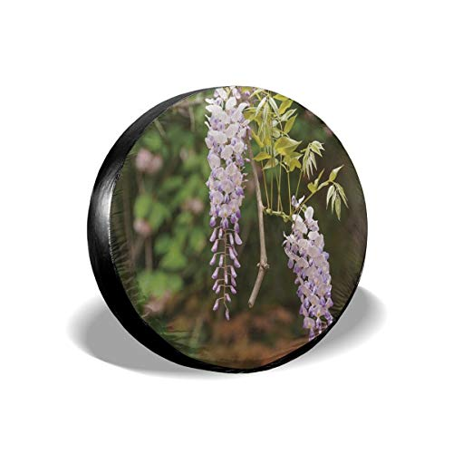 Garden Flower-serie (best& Tire Cover Spring Flowers Series Wisteria Trellis In Garden Polyester Universal Spare Wheel Tire Cover Wheel Covers Jeep Trailer RV SUV Truck Camper Travel Trailer Accessories 14 inch)