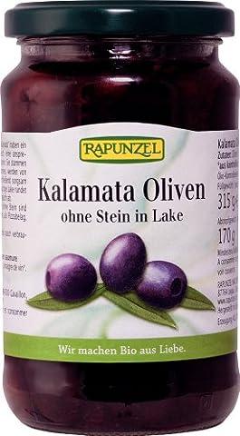 Rapunzel Oliven Kalamata violett, ohne Stein in Lake, 1er Pack (1 x 315 g) - Bio