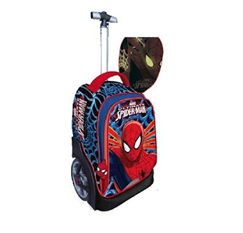 Zaino scuola trolley step up spider-man maricart - il trolley che fa le scale