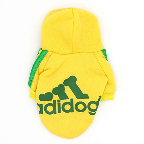 QiCheng&LYS Hundemantel Adidog Hund Hoodies Kleidung, Pet Puppy Katze Niedlicher Baumwoll Warm Hoodies Coat Pullover