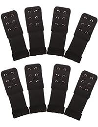 Senkary 8 Pieces Bra Extenders 2 Hooks 3 Rows Elastic Bra Strap Extenders Bra Band Extension for Women Ladies