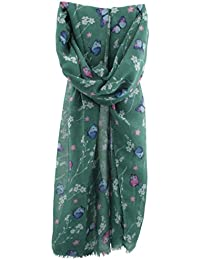 Zest Butterfly & Floral Print Fashion Scarf