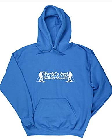 HippoWarehouse World's best skiing coach unisex Hoodie hooded