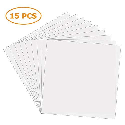 Sopplea 15 Stück 6 Mil 30,5 x 30,5 cm blanko Mylar-Schablonen - machen Sie Ihre eigene Schablone, ideal für kompatible Cricut- und Silhouettenmaschinen.