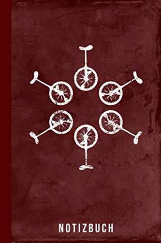 Notizbuch: Einrad fahren Fahrrad lernen Geschenk für Kinder & Erwachsene (Radsport Zubehör, Band 1)