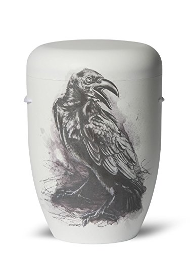 The Coffin Company Cenicero Biodegradable para Cremación, Tamaño Adulto, el Crow (Zen Master Raven)