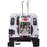 Fabbri 6950250 Gringo Ski Heckskiträger für Geländefahrzeuge mit Reserverad auf der Außenseite