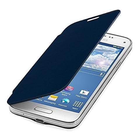 kwmobile Étui de protection à rabat pratique et chic pour Samsung Galaxy S5 Mini en bleu